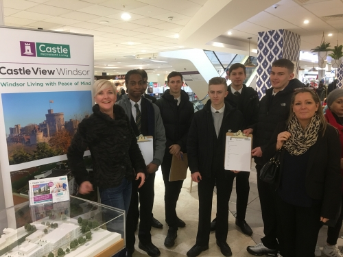 Windsor Boys join us at Daniels Dept Store for Menu Research