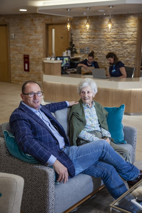 CEO and founder Robin Hughes Relaxing with his Mum at Castle View