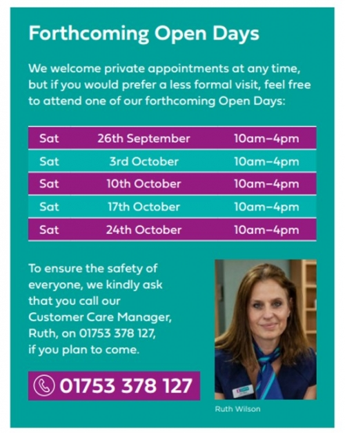 Forthcoming Open Days