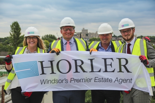 Horler's agents checking out progress on the roof!