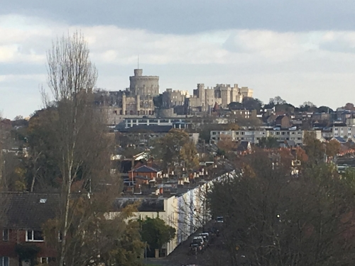 November view of the Castle from the Sky Lounge