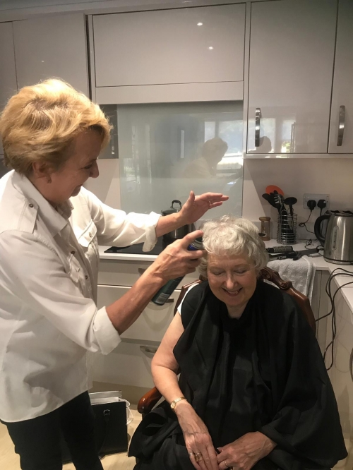 Catering Manager turns Hairdresser