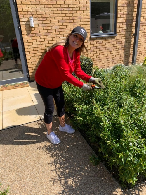 Village Manager turns gardener